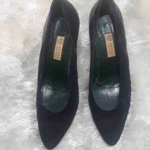 Gucci Shoes - Authentic Vintage Gucci black croc/ suedeHeels